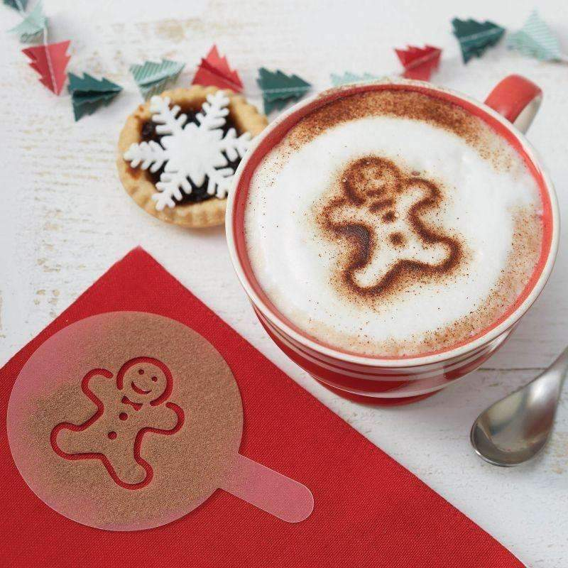 Assorted Christmas Hot Chocolate Stencils - Pack of 6