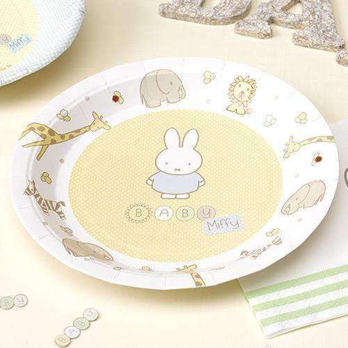 Baby Miffy Paper Plates - Pack of 8