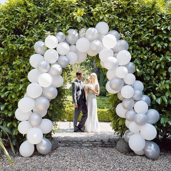 Silver and White Balloon Arch Kit - 15m