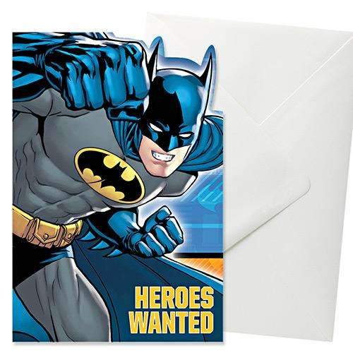 Batman Party Invitations - Pack of 8