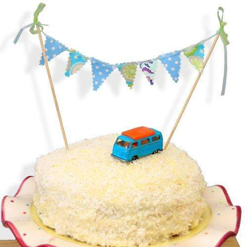 Beautiful Handmade Cake Bunting - Blue