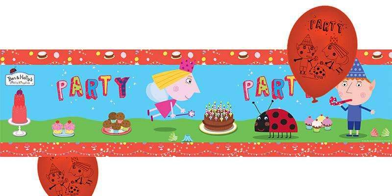 Ben and Holly Party Balloons and Banner Set