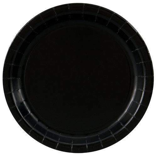 Black Plates 23cm - Pack of 8