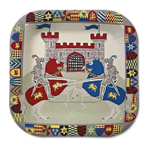 Brave Knights Plates - Pack of 12