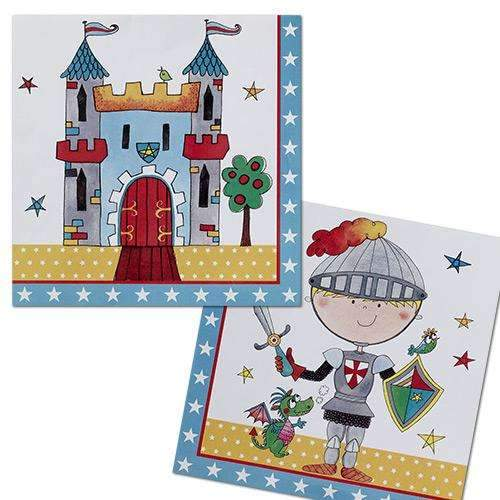 Brave Young Knight Party Napkins - Pack of 20