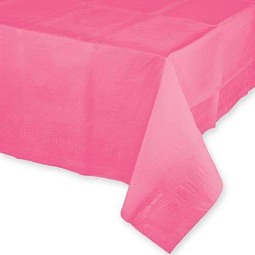 Candy Pink Rectangular Paper Tablecover