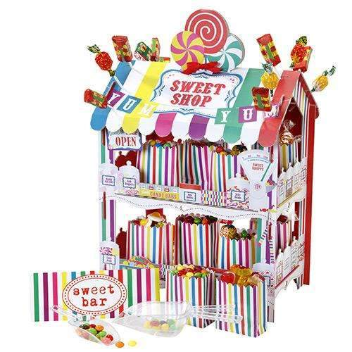 Candy Striped Sweet Shop Treat Stand