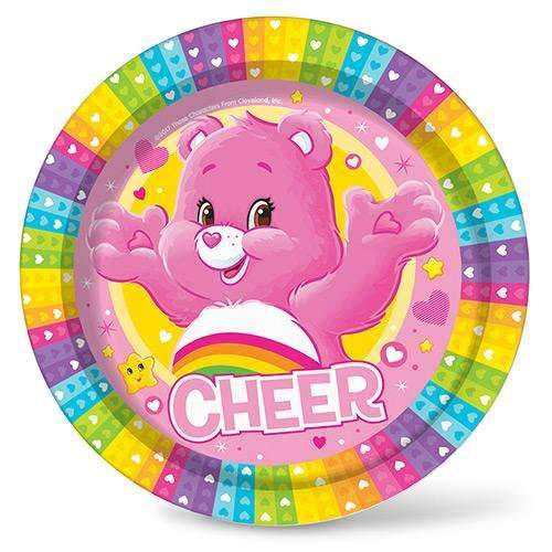 Care Bears Party Plates - Pack of 8