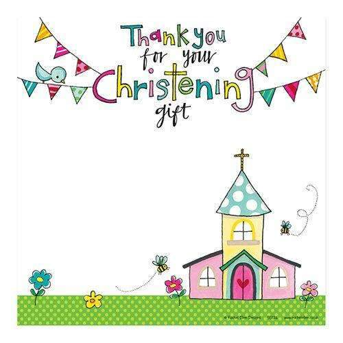 Christening Square Thank You Cards