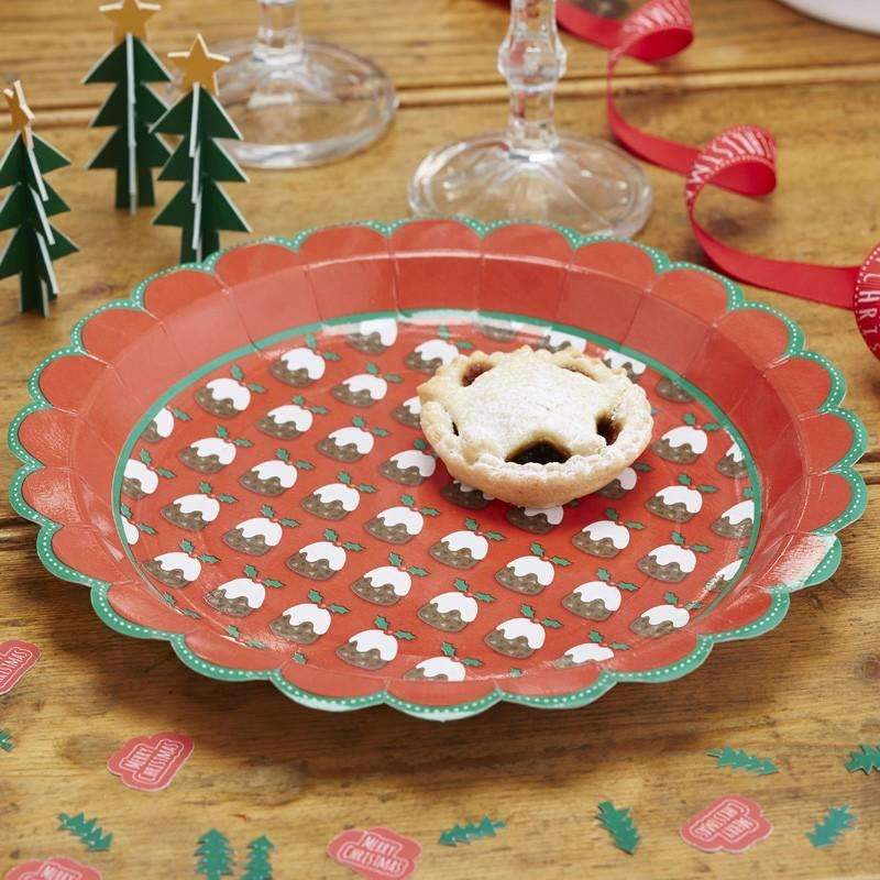 Christmas Pudding Paper Plates