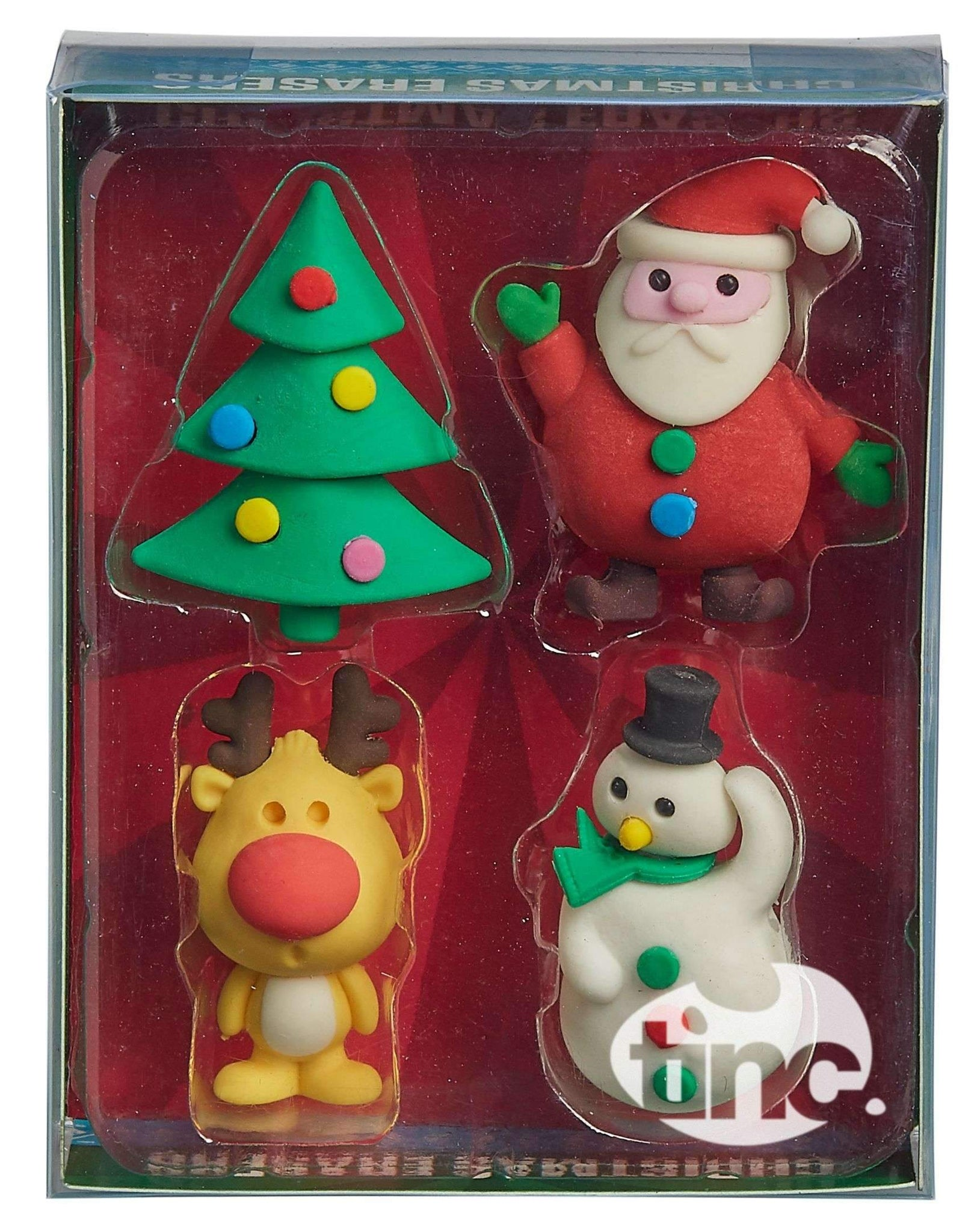 Christmas Scented Eraser Collection - Multi - Pack of 4