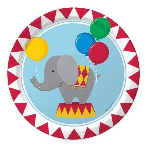 Circus Time Party Plates - Pack of 8
