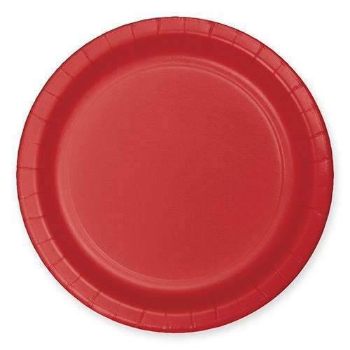 Classic Red Plates 23cm