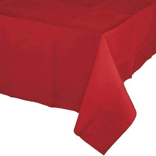 Classic Red Rectangular Paper Tablecover