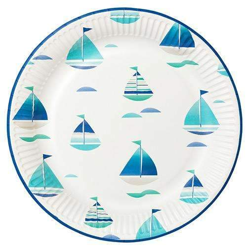 Coastal Boat Paper Plates - Pack of 12