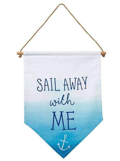 Coastal 'Sail Away With Me' Banner