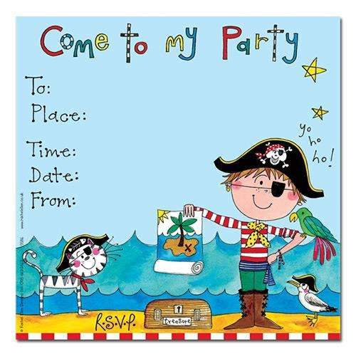 Come to My Party - Pirate Invitation Cards