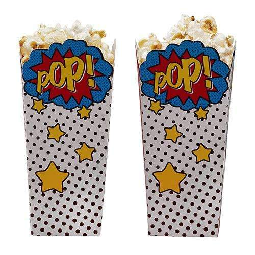 Comic Superhero Popcorn Boxes - Pack of 8