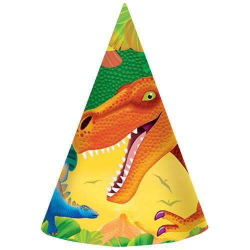 Dinosaur Party Hats - Pack of 8