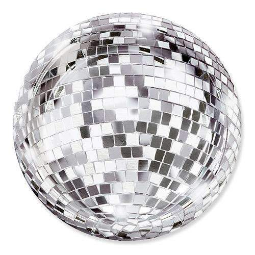 Disco Glitter Ball Party Plates