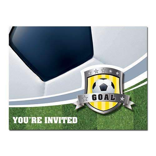 Football Boy Invitation Cards - Pack of 8