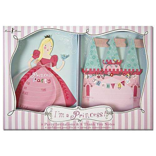 I'm a Princess Invitation and Thank You Set - Pack of 8 each of Inv. & T/you