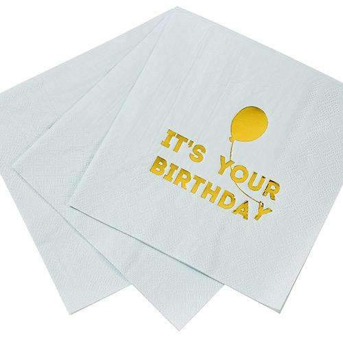 It's Your Birthday Napkins with Balloon - Blue