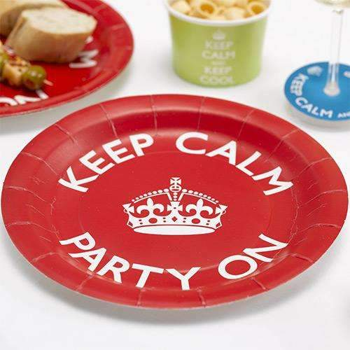 Keep Calm and Party Paper Plates - Pack of 8