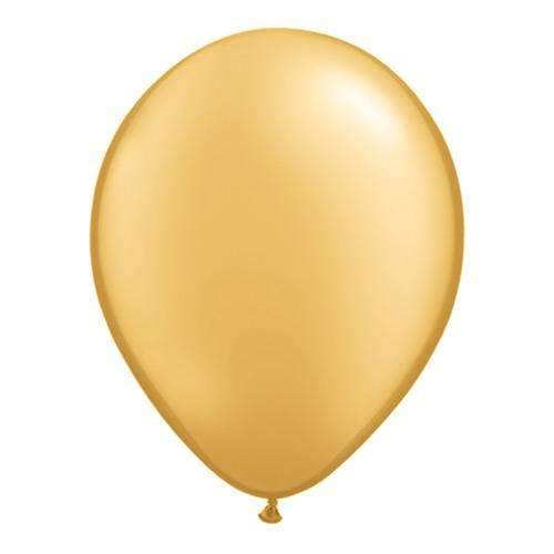 "Metallic Gold 11"" Qualatex Latex Balloons -Pack of 6"