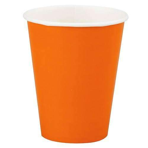 Orange Cups  - Pack of 8