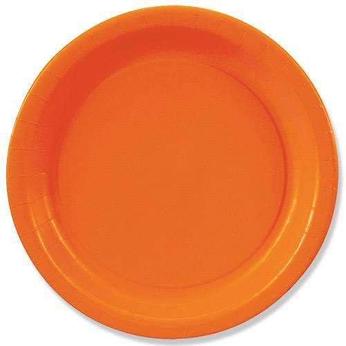 Orange Plates 23cm - Pack of 8