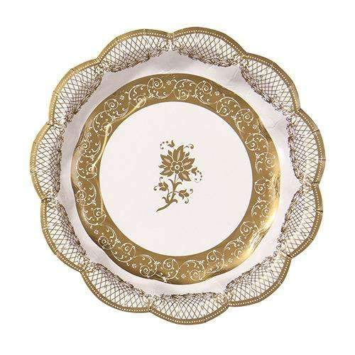 Party Porcelain Gold Side Plates - Pack of 12