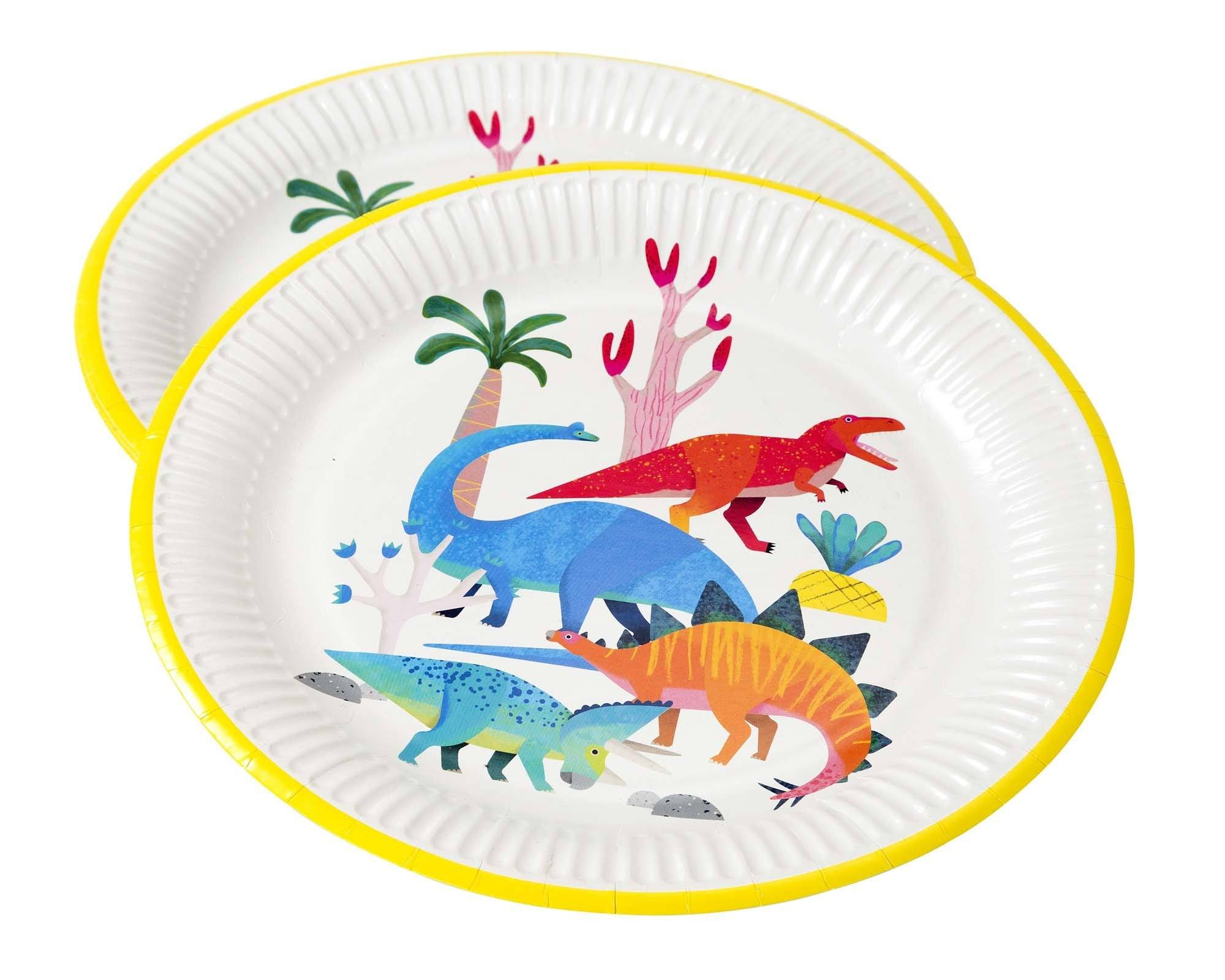 Party Dinosaur Plates - Pack of 8 - 23cm