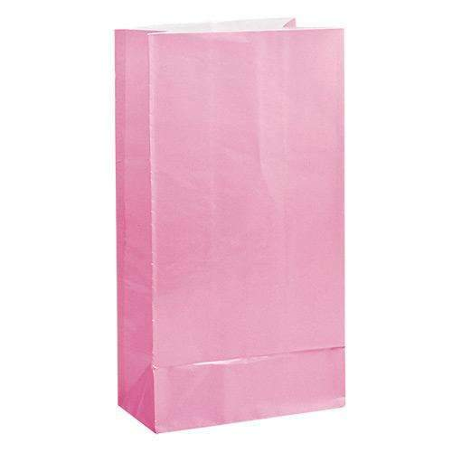 Pink Paper Party Bags - Pack of 12