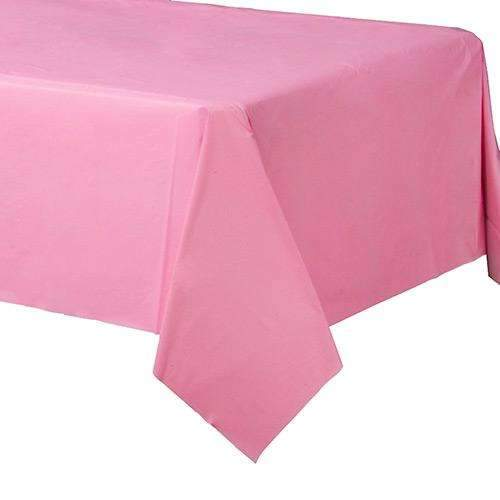 Pink Plastic Rectangular Tablecover