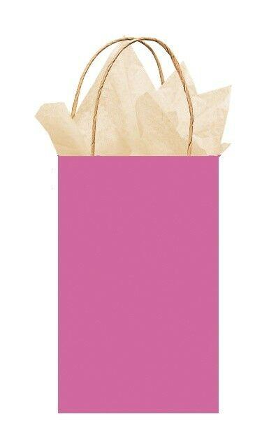 Bright Pink Paper Party Bag with handle