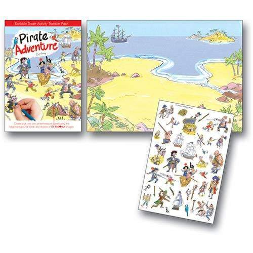 Pirate Adventure Scribble Down Activity Pack