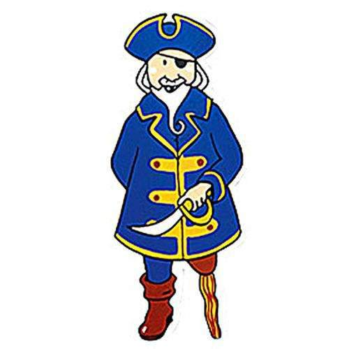 Pirate Captain Wooden Magnet