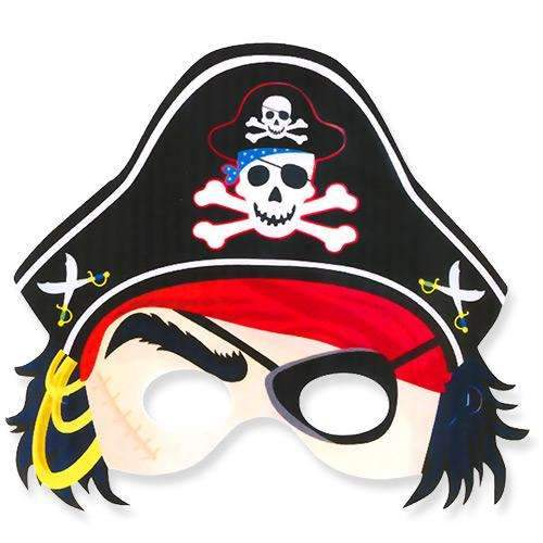 Pirate Party Mask with Hat