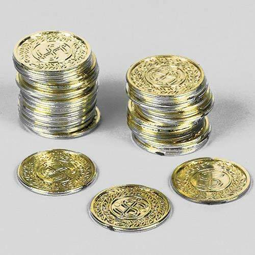 Pirate Treasure Plastic Coins - Pack of 72 coins