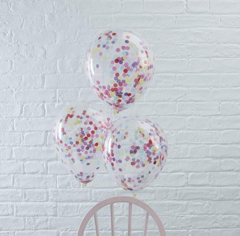 Confetti Filled Balloons - Pack of 5