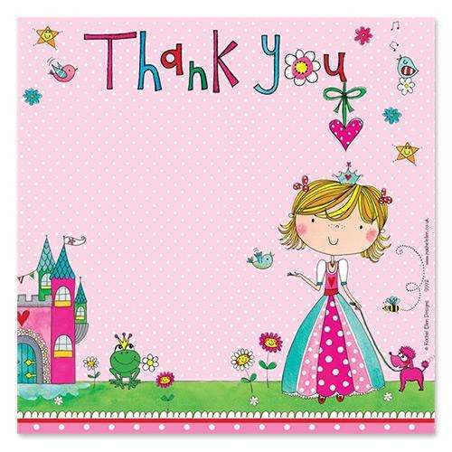 Pretty as a Princess Thank You Cards - Pack of 8