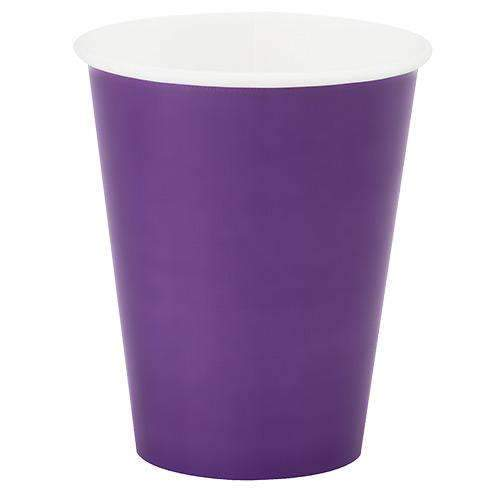 Purple Paper Cups  - Pack of 8
