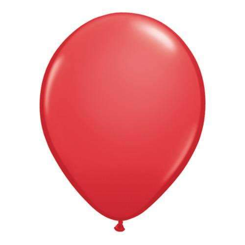 "Red 11"" Qualatex Latex Balloons - Pack of 6"