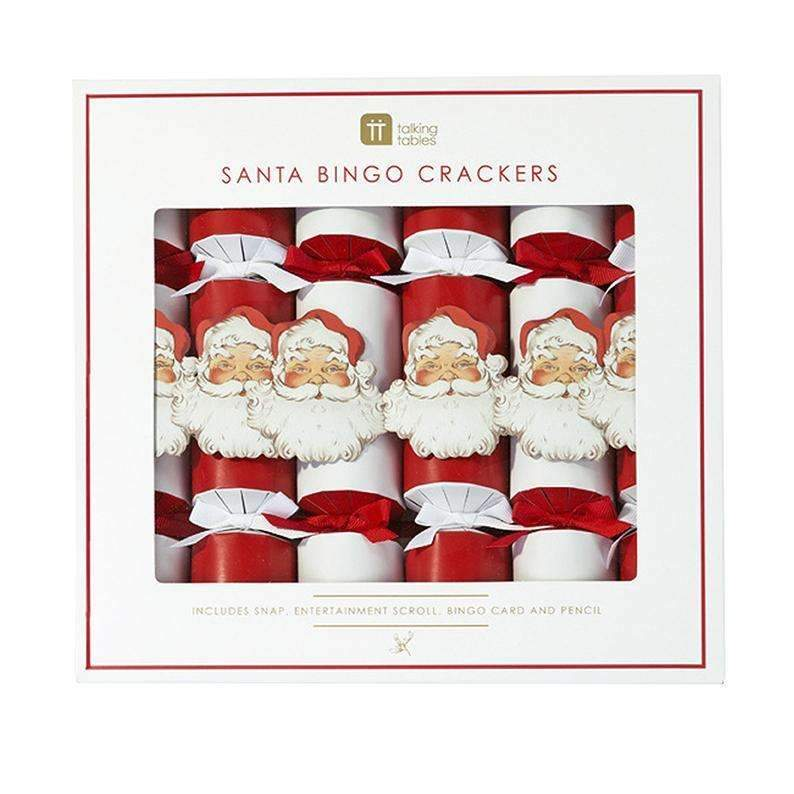 Santa Christmas Crackers - Pack of 6