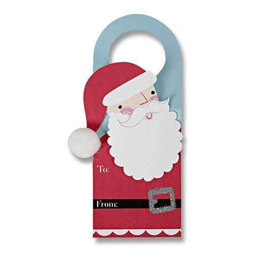 Santa Wine Gift Tags - Pack of 4