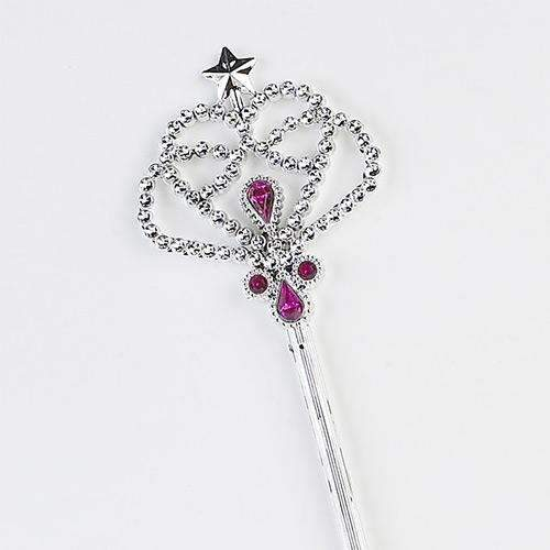 Silver Wand with Pink Jewels