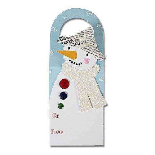 Snowman Wine Gift Tags - Pack of 4