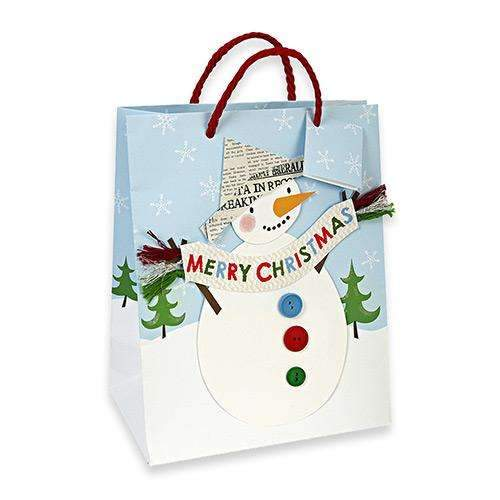Snowman with Paper Hat Gift Bag