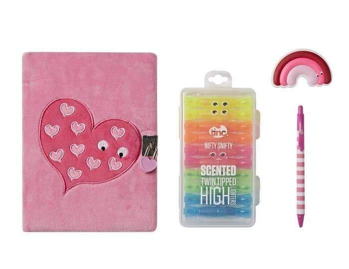 Snuggly Journal Boxed Gift Set - Pink